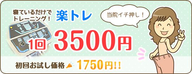楽トレ1回3500円