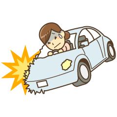 宇治市で交通事故にあった女性